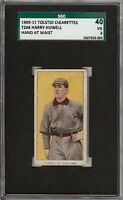 Rare 1909-11 T206 Harry Howell Hand At Waist Tolstoi Back St Louis SGC 40 / 3 VG