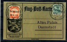 "GERMANY 1912 FLUGPOST + 5PF GERMANIA ""DARMSTADT"" CANCEL. FLIGHT CARD. REPLICA."