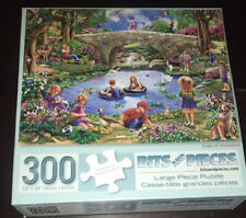 Bits and Pieces 300 large piece JIGSAW PUZZLE End Of Summer Art Kids Animals