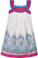 Girls New Cotton Summer Floral Dress Kids Sun Party Sleeveless Dresses 2-10 Year