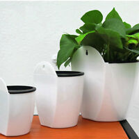 Self-Watering Flower Pot Plant Wall Hanging Plastic Hydroponics Garden