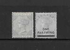 1883 Queen Victoria SG28 3d Grey Crown CA & SG30 Mint Hinged BERMUDA