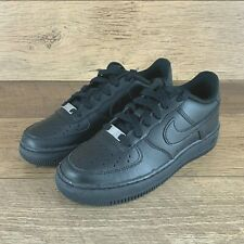 NEW NIKE AIR FORCE 1 LOW GS 314192 009 BLACK BLACK SNEAKERS YOUTH SIZE 4 Y