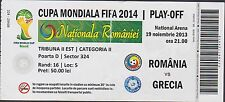 Ticket ROMANIA vs GREECE == Play-off World Cup 2014 - 19/11/2013
