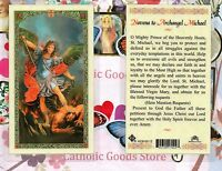 Novena to St. Saint Michael the Archangel - Laminated Holy Card