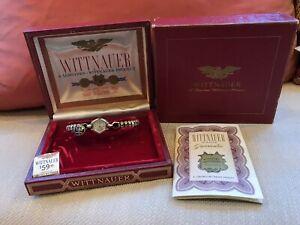 Wittnauer Women's 10K Gold Wind-Up Wristwatch Original Box /Papers 1950s Works!