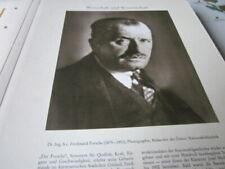 Kärnten Archiv 5015 Dr. Ing. h.c. Ferdinand Porsche 1875-1951