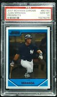 2007 Bowman Chrome Prospects #BC150 Juan Miranda RC Rookie PSA 10 Gem Mint Pop 2