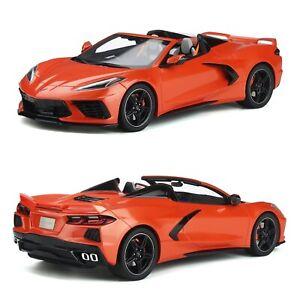 1/18 GT Spirit Chevrolet Corvette C8 Cabriolet Orange 2020 Livraison Domicile