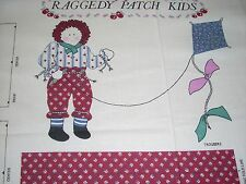 Raggedy Patch Kids  Cotton Doll Panels - Boy and Girl