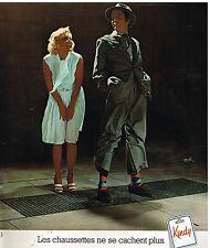 Publicité Advertising 1977 Les Chaussettes Kindy