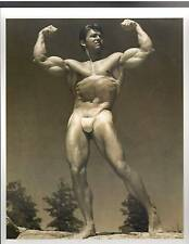 young LARRY SCOTT Posing With G String Muscle Fitness Photo B&W 1960s