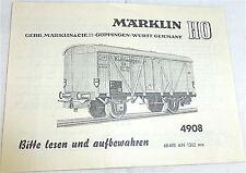 4908 Manuel Märklin 68 498 à 1262 ma