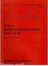 Brahms: Sonata Per Violino e Pianoforte Op.78 - Wiener Urtext