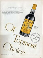 1947 Old Taylor  PRINT AD Bourbon Whiskey features Vintage Bottle
