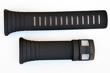 Suunto Core ORIGINAL watch band strap  All Black Rubber with attachment  2 pins