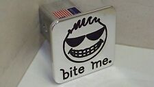 hitch cover, BITE ME ,h2 ,tahoe,expedition supercrew HAPPY FACE