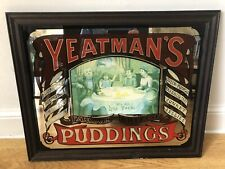 More details for large 26'' x 21'' 'yeatman's famous british puddings' advertising glass mirror