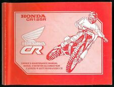 Revue d'Atelier HONDA CR 125 R 1990 Manuel technique Maintenance Manual CROSS