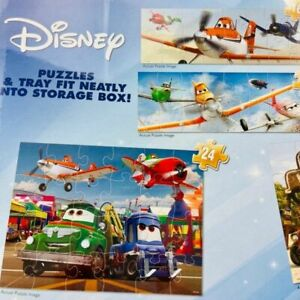Wood Puzzles Disney Cars Movie In Storage Box Toy Ages +5 (Set of 5 Puzzles)