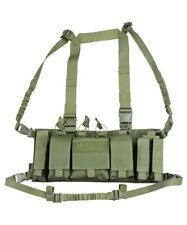 Trojan Tactical Chest Rig Utility Vest Pistol Mag GPS Pouch Army Olive Green