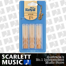 Rico Royal Alto Sax Saxophone 3 Pack Reeds Size 1.5 (1 1/2 - One and a Half) 3PK