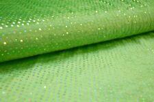 Pannesamt mit Pailletten hellgrün silber Paillettenstoff Stoff mit Pailletten  +