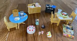 Sylvanian Families Kitchen Lot Sink Table Chair Oven Accessories Calico critters