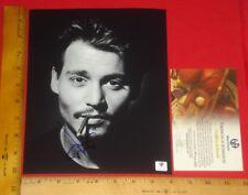 "REAL Authentic- Johnny Depp Signed 8""X10"" B&W Photo Global /GA/GAI/GV"