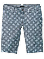 Vans BLURRED Womens 100% Cotton Shorts Size 5 Peacoat Blue Checked  NEW