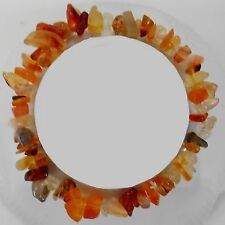 Amber Quartz nugget Bracelet no clasps stretchable one size fits ALL unisex