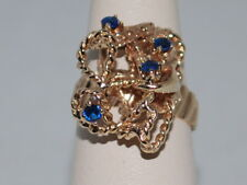 10k Gold ring with Sapphires(September birthstones) and a beautiful design