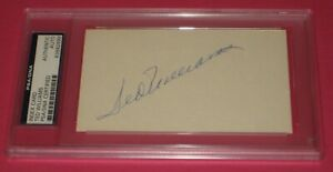 TED WILLIAMS (Boston Red Sox) Signed INDEX CARD PSA Authenticated & Encapsulated