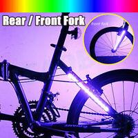 2 X bicicleta bicicleta bicicleta rueda horquilla tira luz barra LED flash luz l