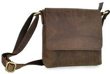Umhänge Schultertasche Tasche aus echtem Leder in Vintage braun