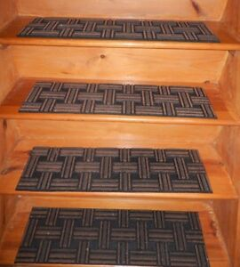 4 =  Step = 8.1/2'' x 30''  Outdoor / Indoor  Non-Slip Staircase 100% Rubber .