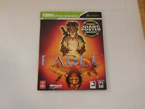 Fable Xbox Official Strategy Guide Prima with Poster