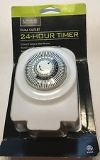 LIVING SOLUTIONS 24 HOUR DUAL OUTLET TIMER NEW SEALED IN PACKAGE