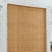 4Sizes Pleated Curtain Blind Blackout Light Block Cordless Patio Curtain Home