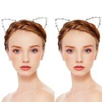 Haarreif Haarreifen Tiara Diadem Katzenohren Strass Perlen Haarschmuck N2O4