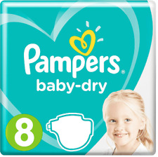 Pampers Baby Dry Size 8 Sample 5x Diapers All New Size Imported Pampers 8