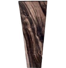 """Quartersawn 🦓 Macassar Ebony 30x6.5""""x.375"""" Striped Fingerboard Bass Big Thick"""