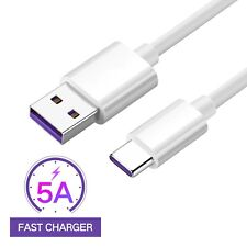 5A Supercharge USB Type C Data Cable Charger For Huawei Mate 9 P9 P10 Plus Pro @