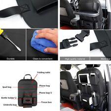 Car Seat Back Bag Leather Black Multi-Pocket Folding Storage Holder dining table