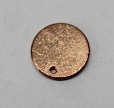 "50Pk blank Hd 16 gauge copper round Stamping Pet Dog Cat tag 7/8"" Diameter"