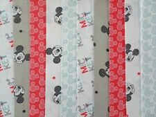 20 JELLY ROLL STRIPS COTTON PATCHWORK FABRIC 22 INCH LONG ~ MICKEY MOUSE 2