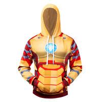 Iron Man MK Cosplay Costume 3D Printed Premium Sweatshirt Pullover Hoodie