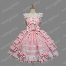 Victorian Reenactment Vintage Gothic Sweet Lolita Costume Dress Cute Frill Skirt