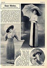 Neue Moden leichte Sommermode Sportkostüm mit Hosenrock Histor. Memorabile 1911