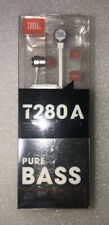 JBL T280A Pure Bass Stereo In-Ear Headphones with In-Line Microphone - SILVER